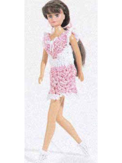Doll Mini Dress Fits 115 Fashion Doll Easy Use Size 10 Crochet