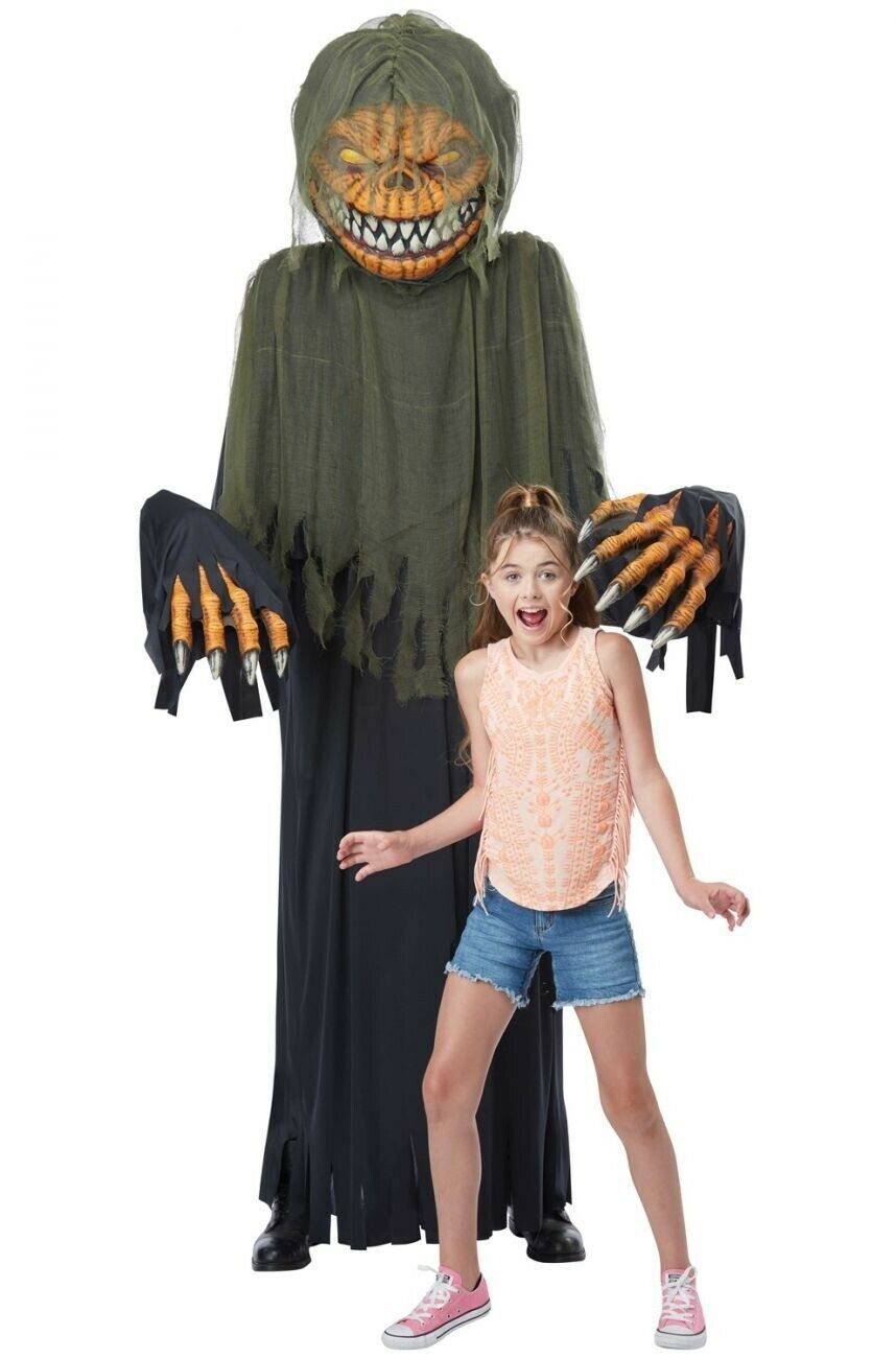 Halloween Costumes 2020 Big And Tall Details about CA906 Towering Terror Pumpkin Halloween Mens Costume