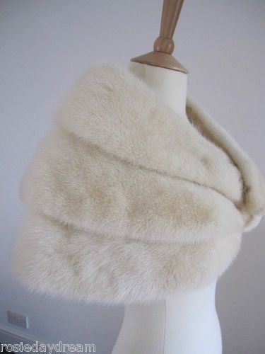 792a9fc8a ivory fur stole (but in faux fur!) because the air is still chilly in March  :)