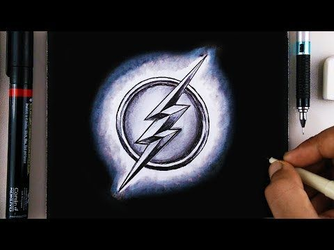 How To Draw The Flash Logo Symbol Step By Step Easy For