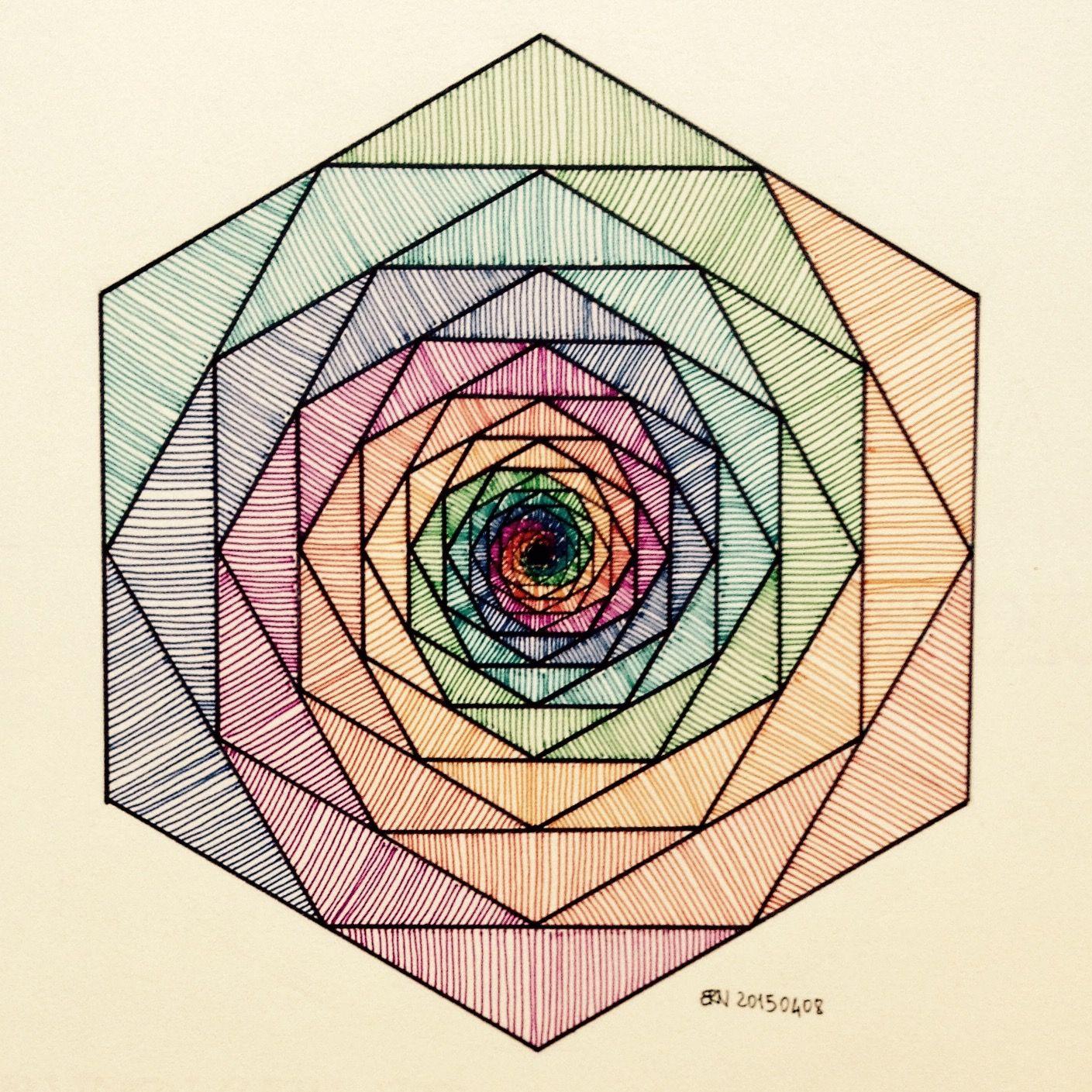 10 geometric art explorations for math learning - HD1409×1409