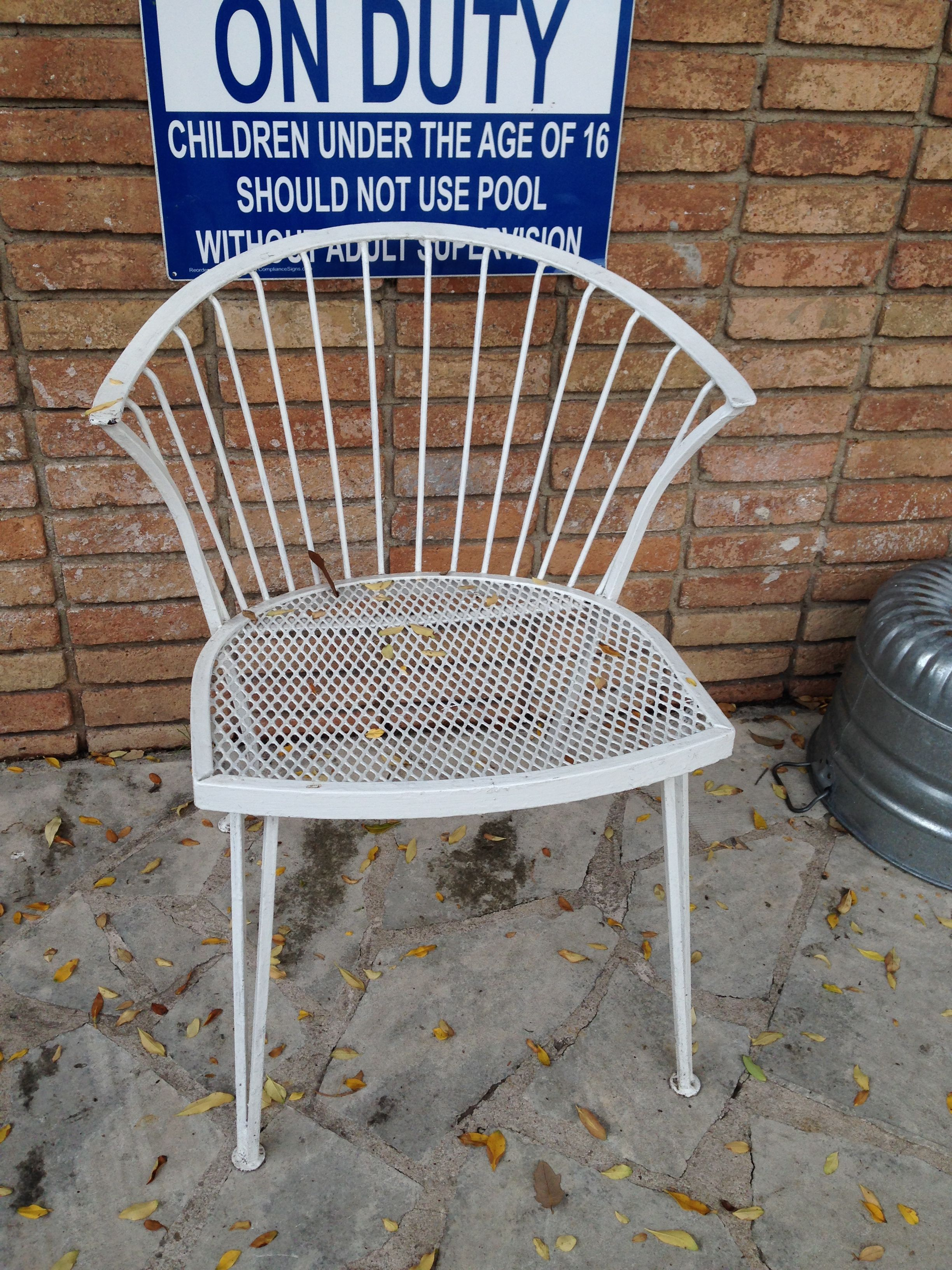 Scallop Back Chair, Qty 7 Outdoor chairs, Outdoor