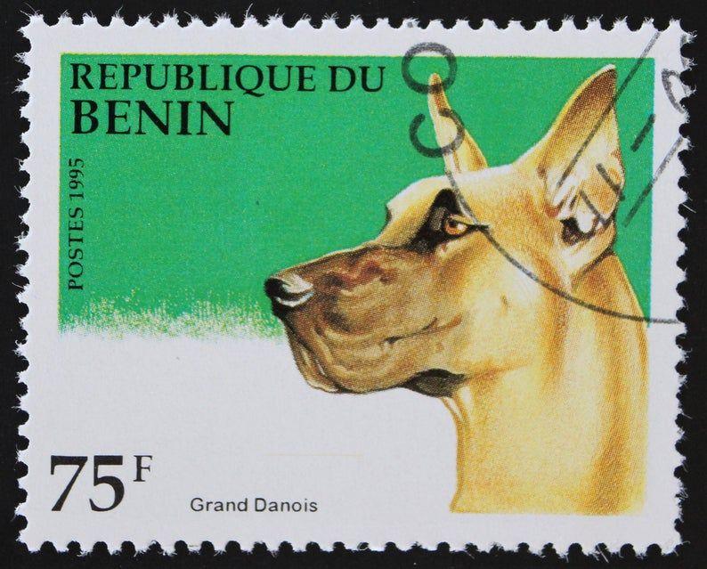 Dogs Postage Stamp Set Benin 1995 Used Postmarked Postal
