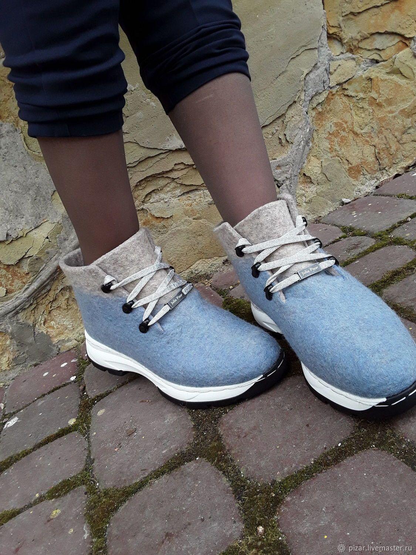f8300a5ef750 Обувь ручной работы. Кроссовки эко из шерсти Чайка. Eco Shoes by Julia  Pizar.