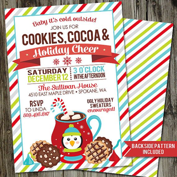 Christmas Party Invitations Kids Hot Cocoa Party Invitations