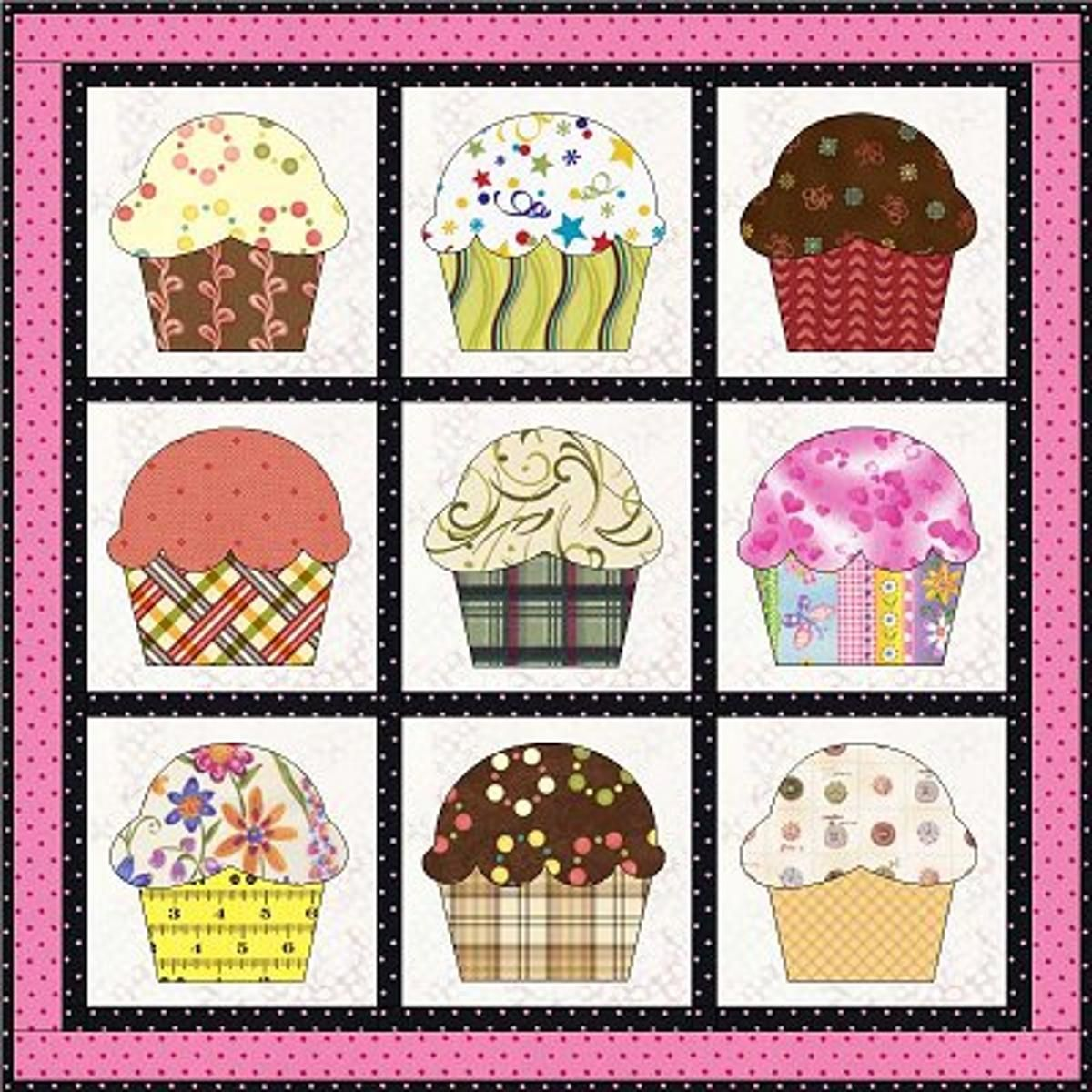 Free Quilt Pattern: Cupcakes | Free Quilt Patterns | Pinterest ... : cupcake quilt patterns - Adamdwight.com