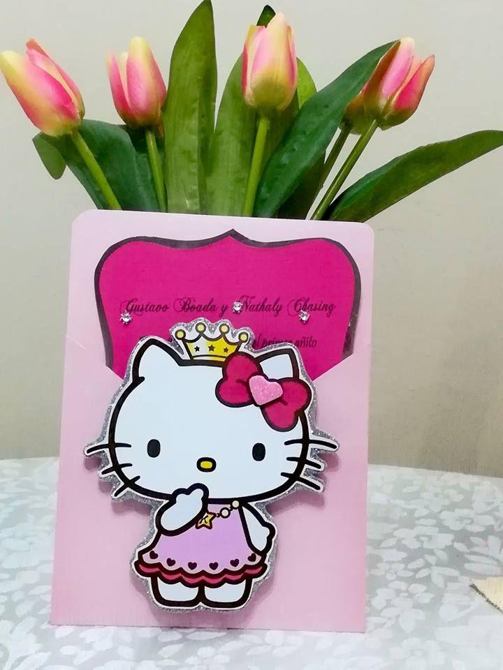 Tarjeta De Invitación Hello Kitty Tarjetas Infantiles