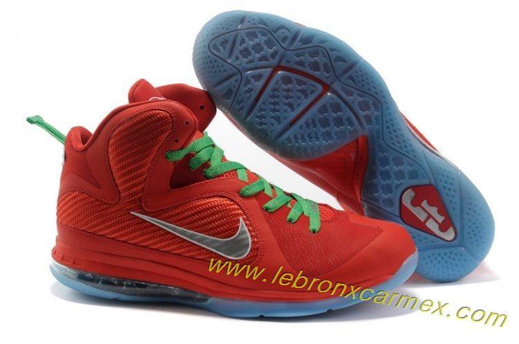 huge discount a8da7 279c5 Nike Lebron 9 NBA Shoes Christmas Orange Grey Release