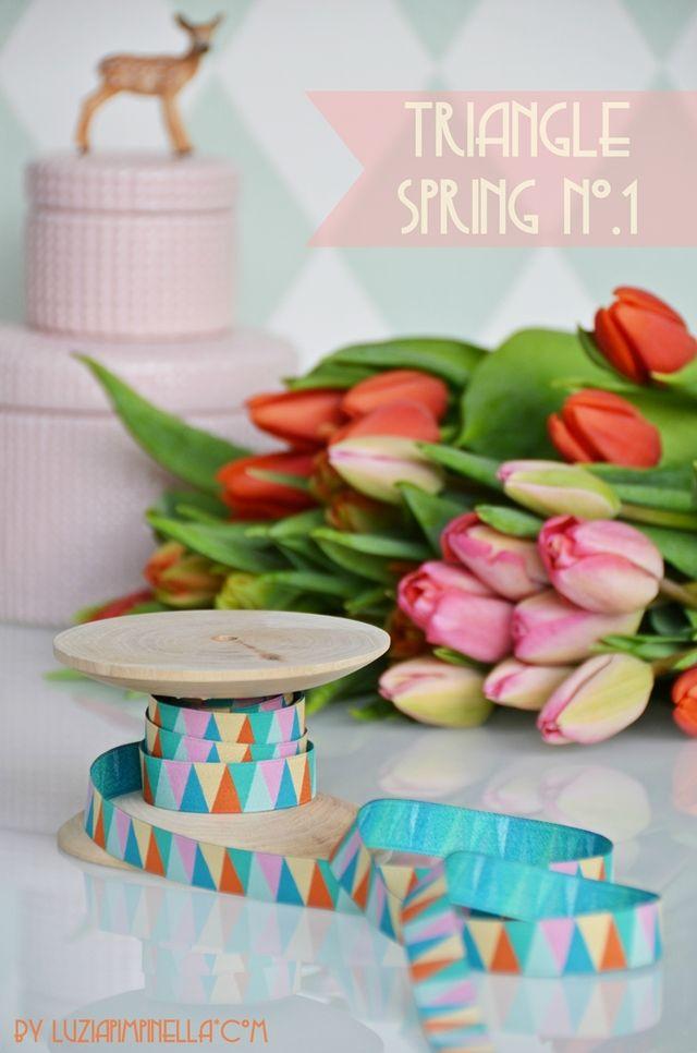 luzia pimpinella webband - ribbon design | pastell triangle spring no.1