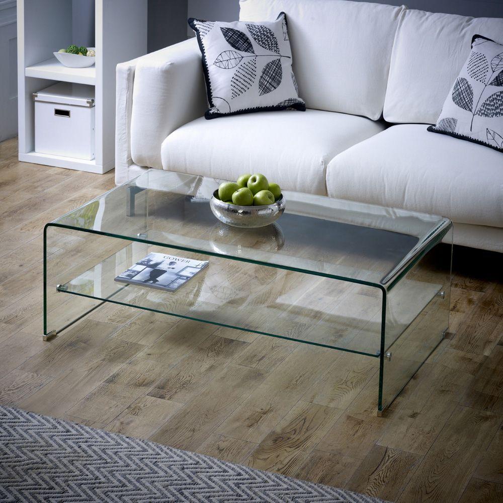 Geo Glass Rectangular Coffee Table With Shelf Coffee Table Coffee Table With Shelf Rectangular Coffee Table [ 1000 x 1000 Pixel ]