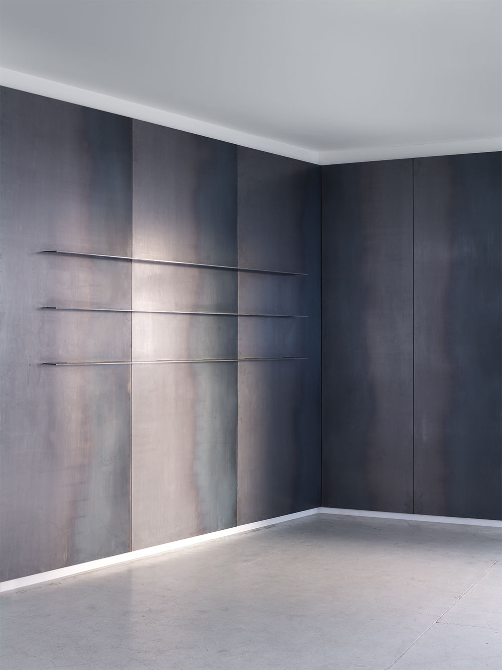 Paul Crofts Studio Product Furniture And Interior Design Metal Wall Panel Sheet Metal Wall Concrete Wall Panels