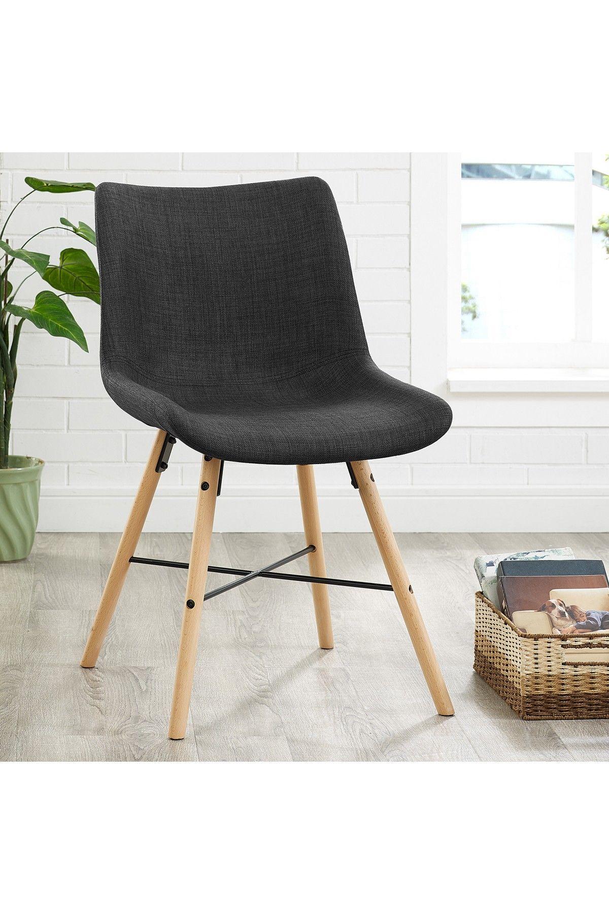 Walker Edison Furniture pany Upholstered Linen Charcoal Side