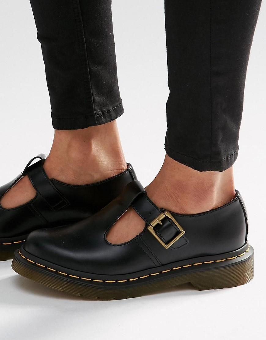Dr Martens | Dr Martens Core Polley T Bar Flat Shoes at ASOS