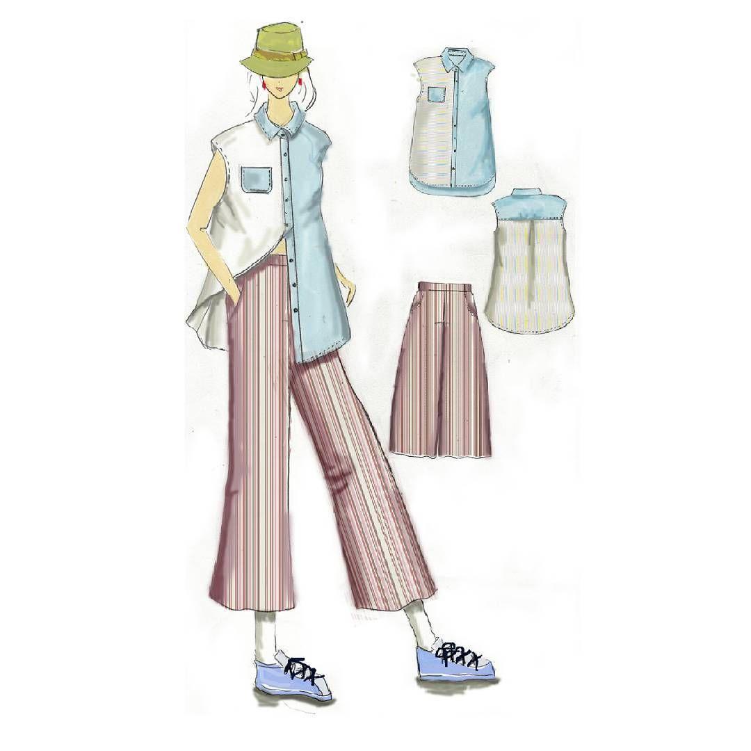 # fashion # fashion illustration # illustration # draw #drawing  stripes # summe…
