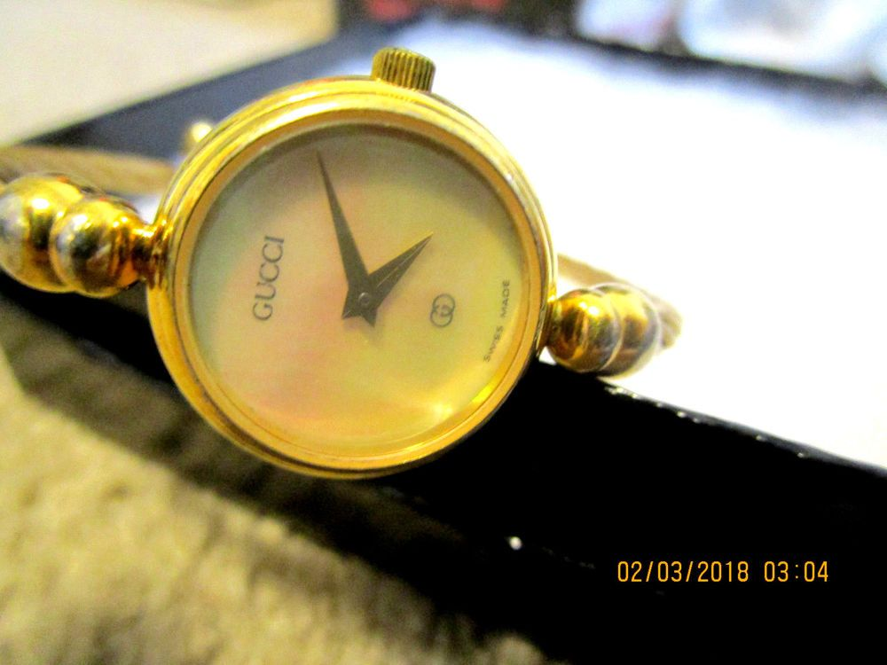 30a42f6c239 GUCCI 2047-L WATCH VINTAGE BRACELET BANGLE CABLE RARE Gucci Ladies Swiss  watch  Gucci