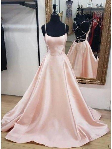 A-Line Spaghetti Straps Long Prom Dress Formal Evening Dresses 99501393