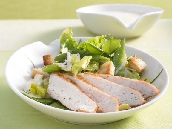 Geflügelsalat mit Kaiserschoten ist ein Rezept mit frischen Zutaten aus der Kategorie Hähnchen. Probieren Sie dieses und weitere Rezepte von EAT SMARTER!