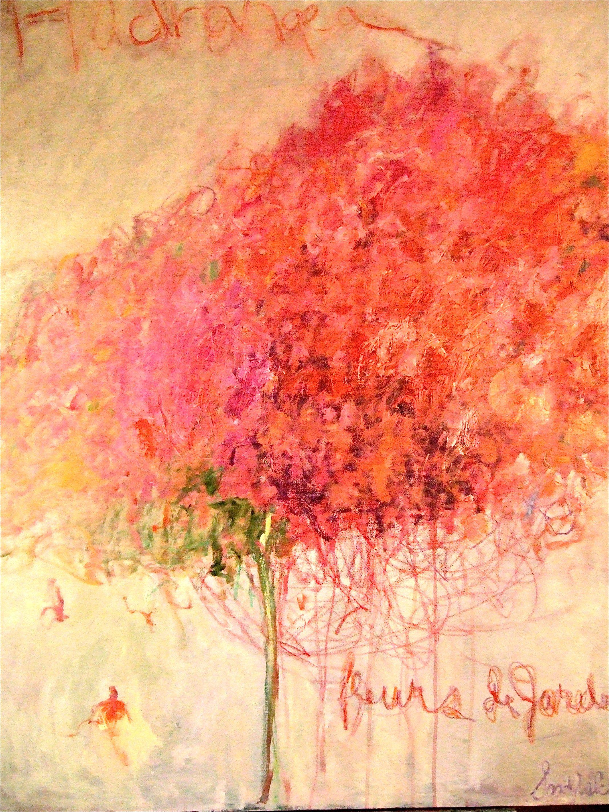 Twombly Fleurs De Jardin Abstrait Aquarelle Abstraite Peinture