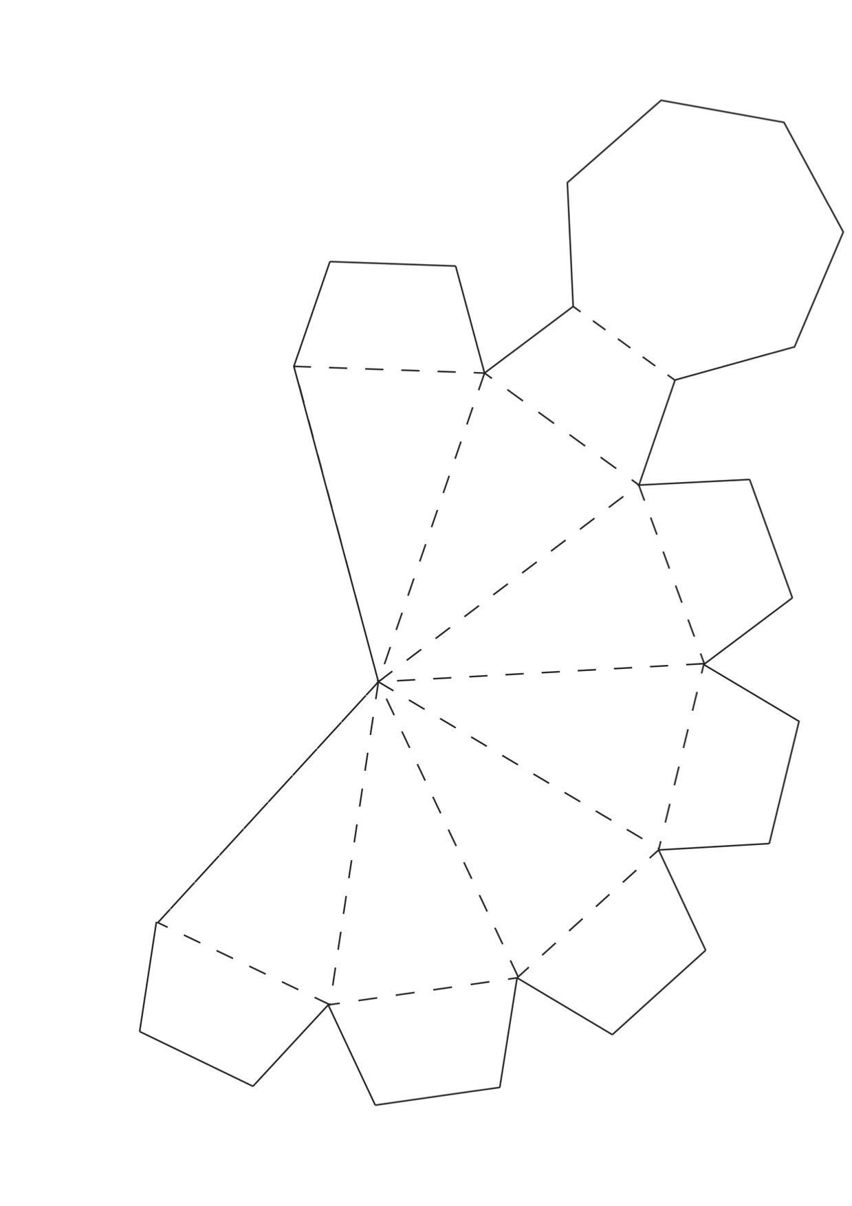 Сделать геометрическую открытку, днем