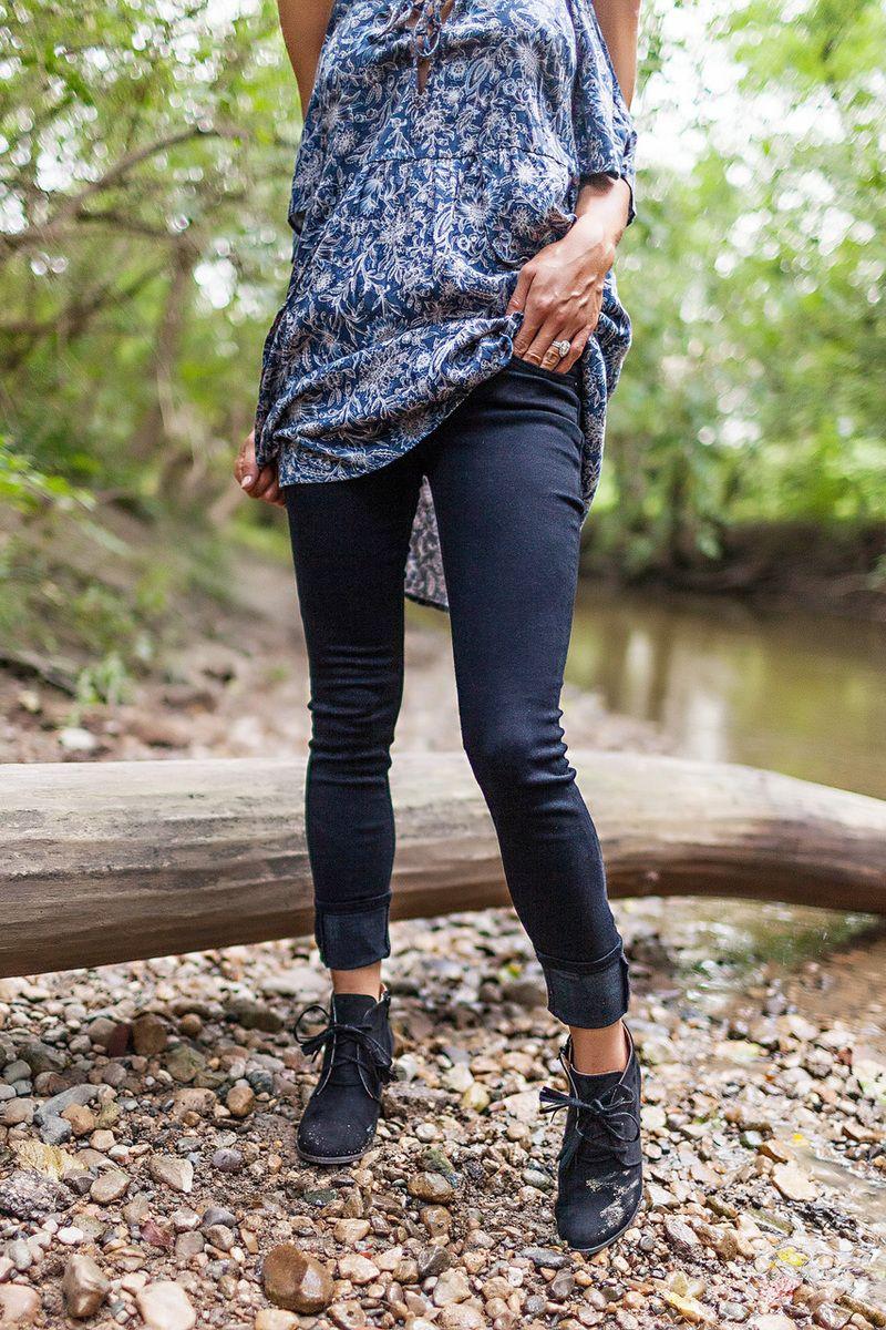 Black Low Rise Stretch Skinny - Dottie Couture Boutique