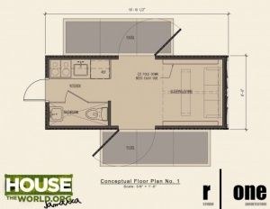 Isbu Container Home Plans One Studio Using A 20ft Shipping