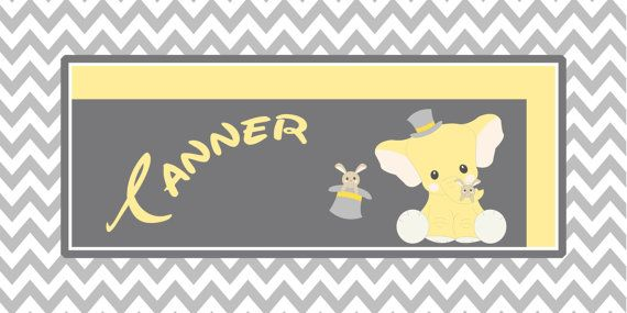 Hey, I found this really awesome Etsy listing at https://www.etsy.com/listing/201342557/personalized-chevron-elephant-rabbit