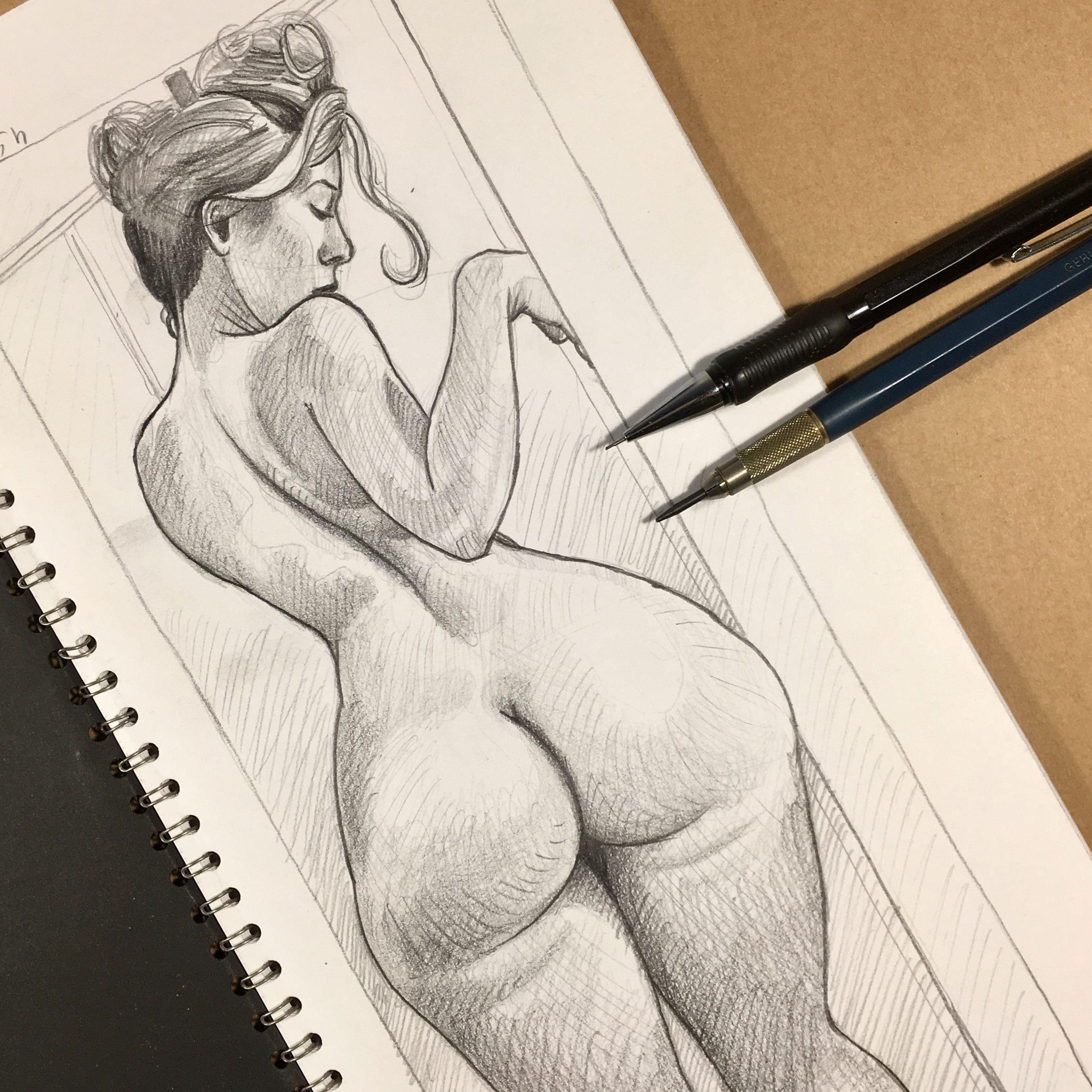 Was curvy girl nude drawing mine