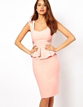 Enlarge Hybrid Pencil Dress With Sweetheart Neckline and Satin Inserts b42d8d351