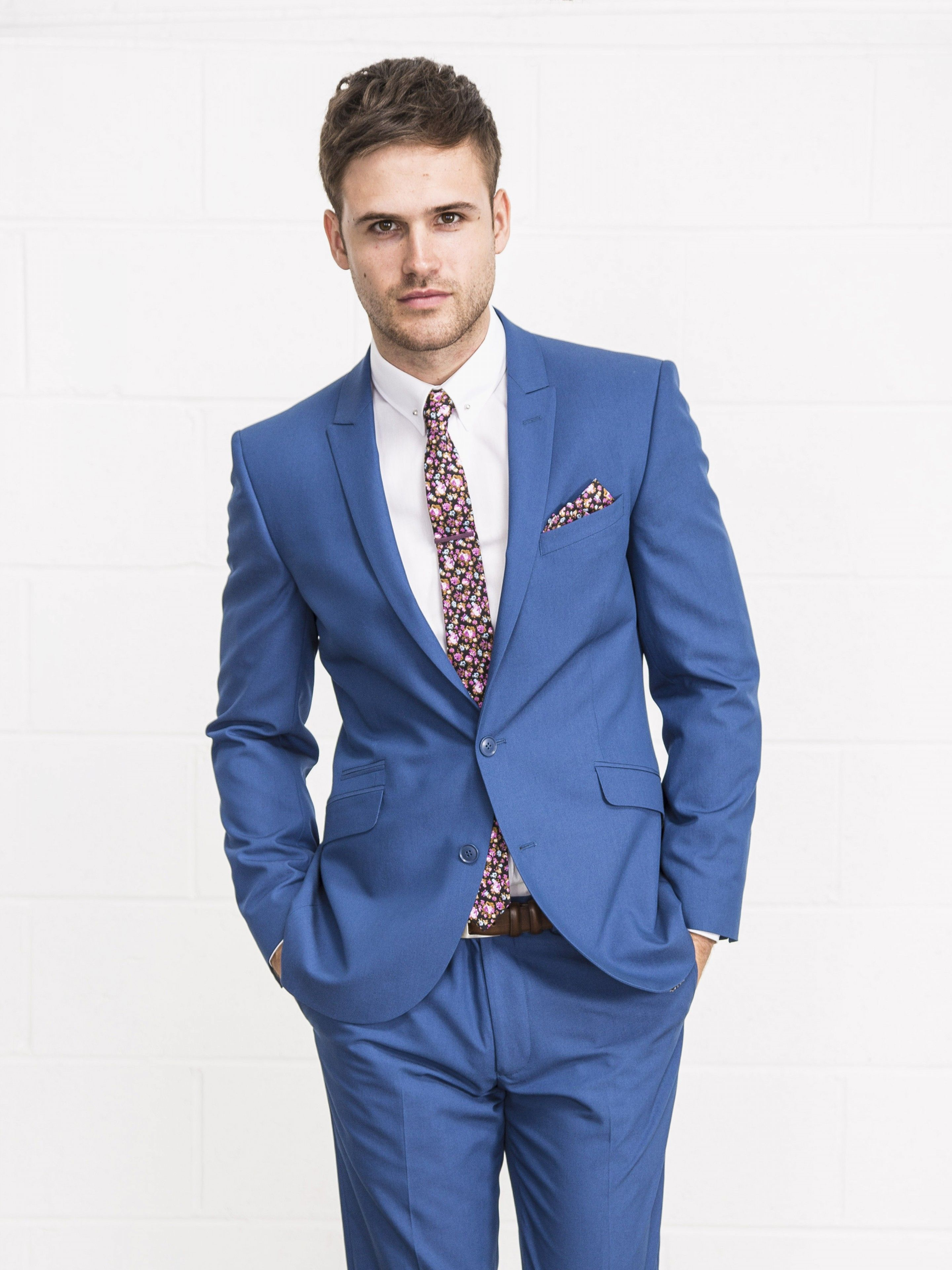 Lambretta Slim Fit Bright Blue Two Piece Suit | For the Hubby ...