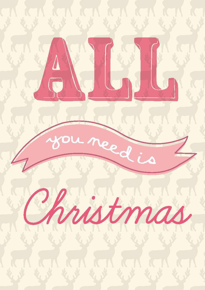 Kerstkaart Pastel All You Need Is Christmas Kerstkaart Pastel All You Need Is Christmas Van Studio Inktvis Met Onze Christmas Fun Christmas Cozy Christmas