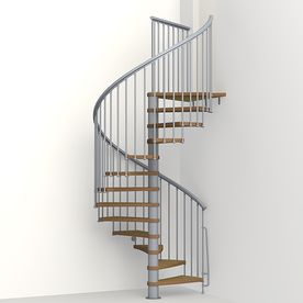 Arke Nice1 63 In X 10 Ft Gray Spiral Staircase Kit K50103