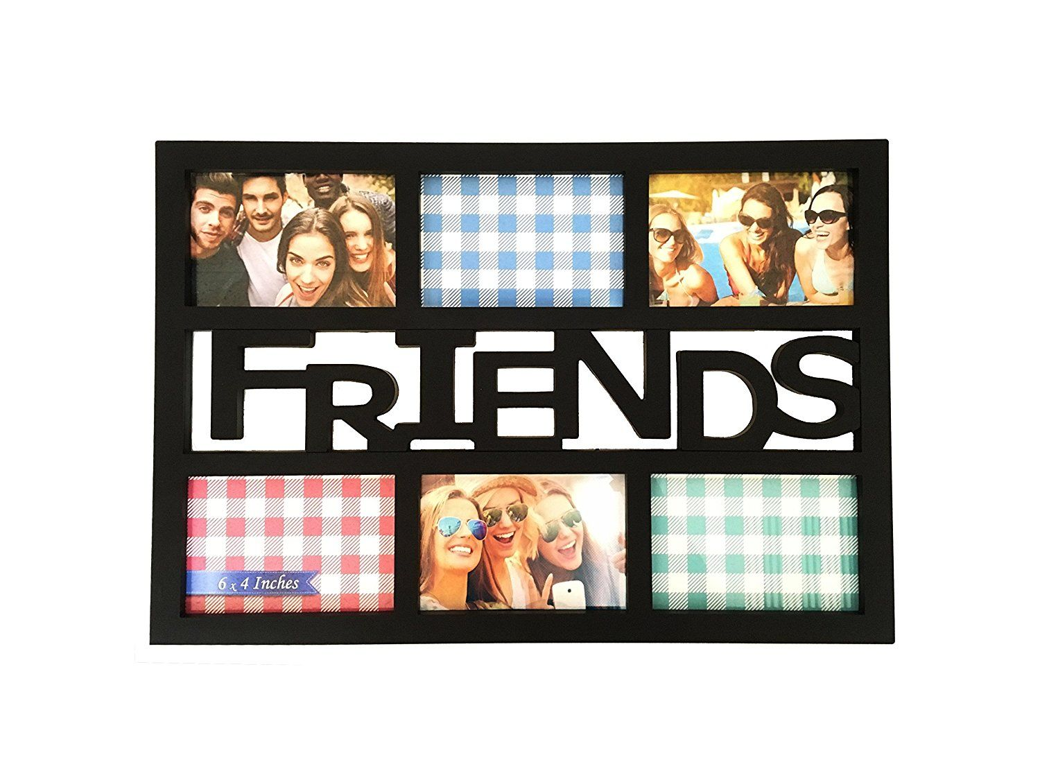 BestBuy Frames \'Friends\' Black 6 Opening 4x6 Wall Hanging Collage ...