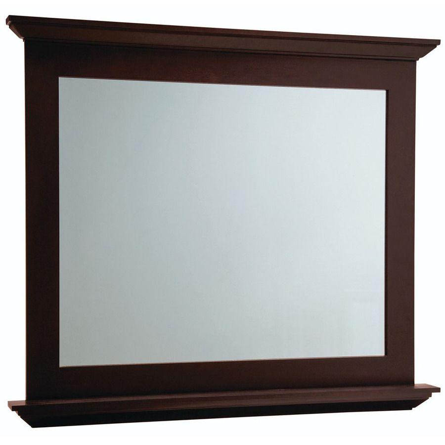 Diamond Palencia 34 In H X 42 W Espresso Rectangular Bathroom Mirror