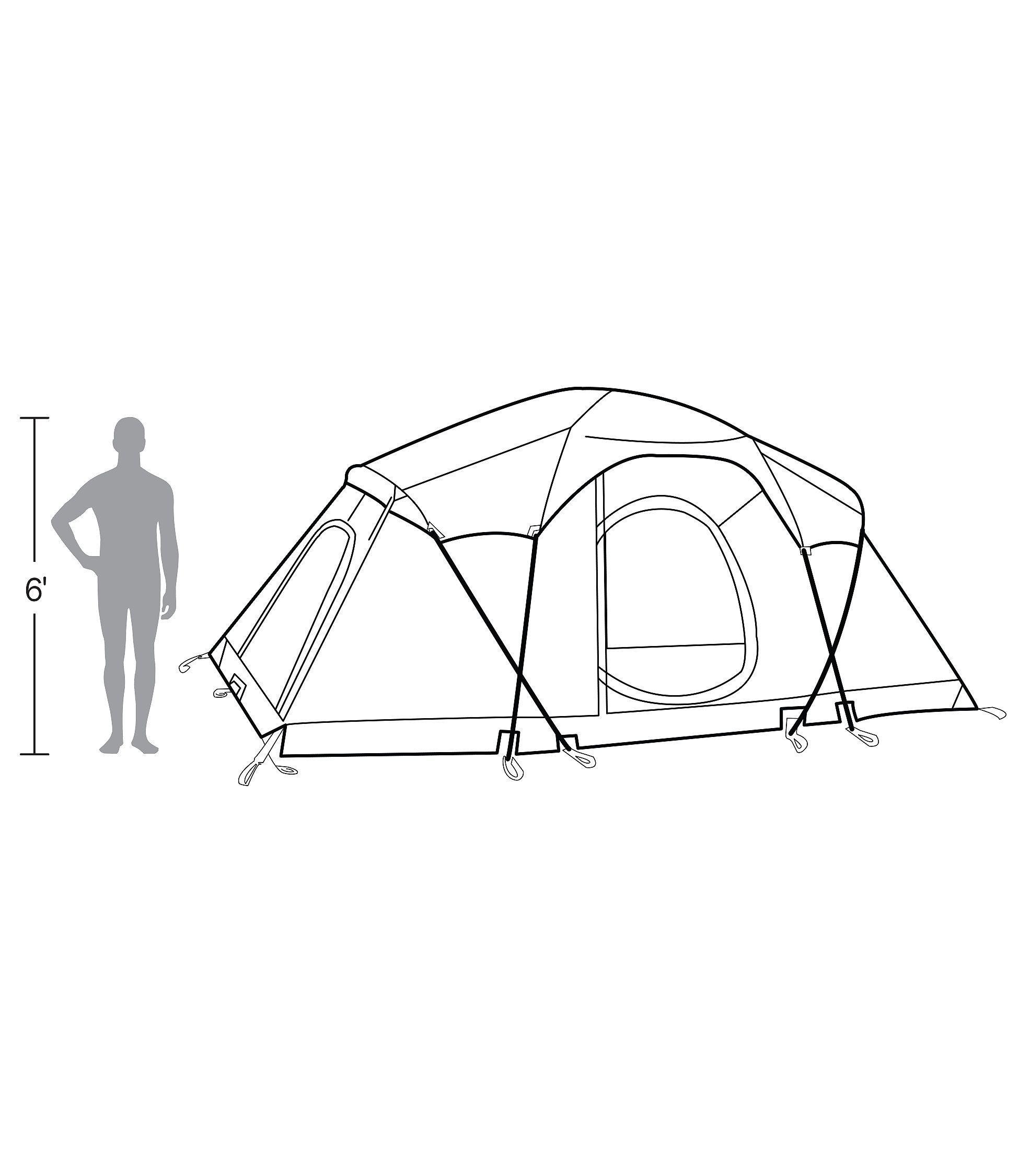 L.L.Bean Big Woods 3-Room 8-Person Dome Tent $500 This  sc 1 st  Pinterest & L.L.Bean Big Woods 3-Room 8-Person Dome Tent $500 This spacious ...
