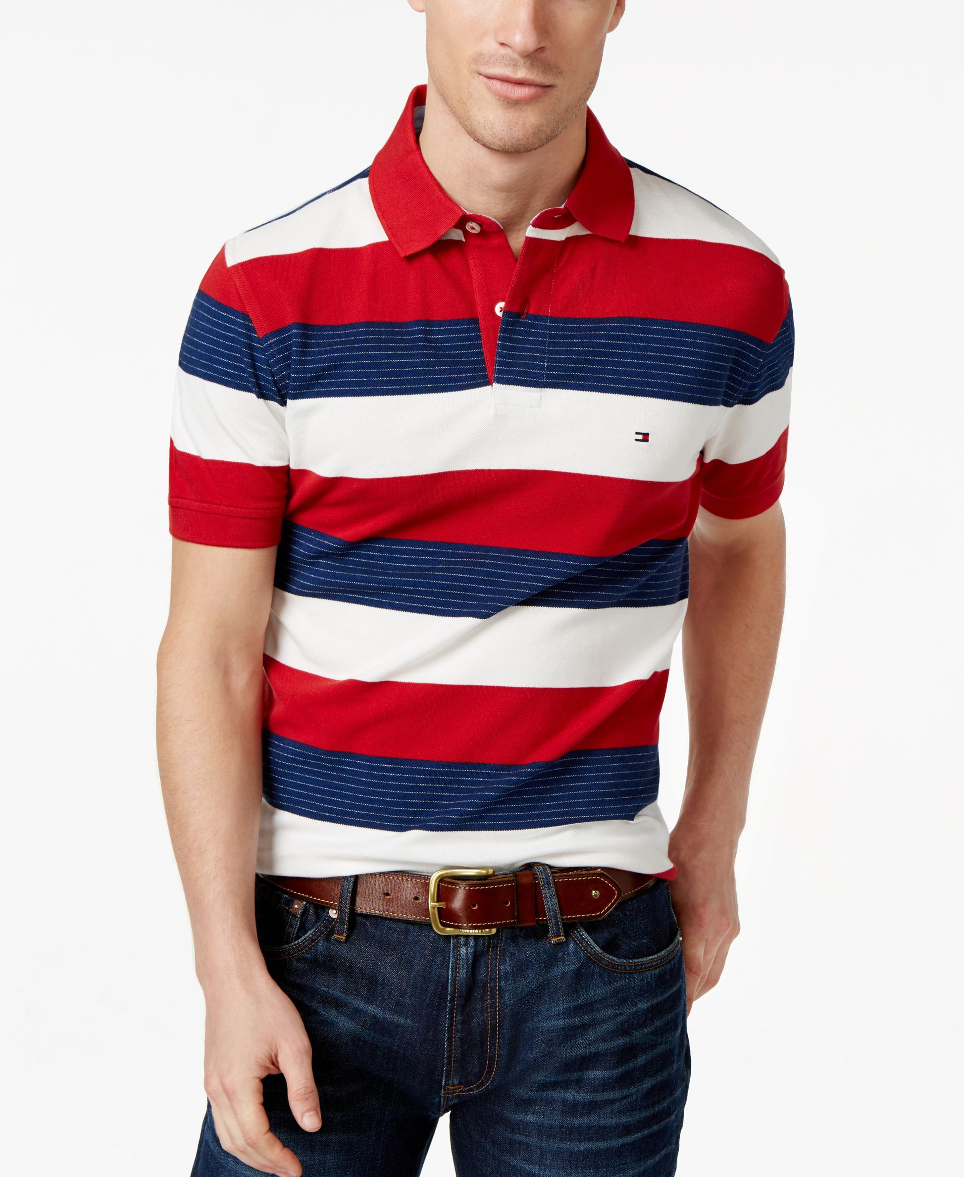 eb28aed1be41 Tommy Hilfiger Nick Striped Classic-Fit Polo