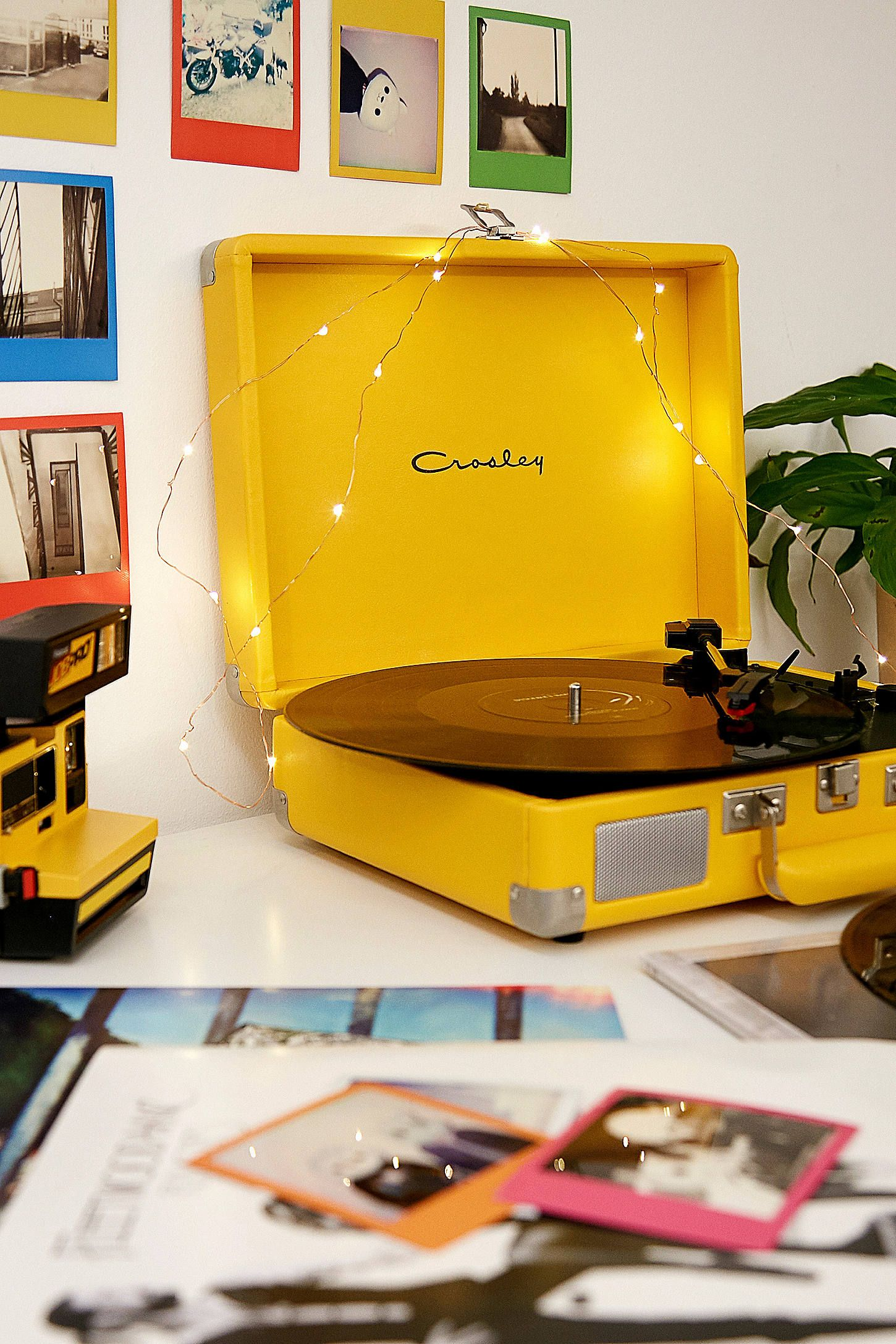 Crosley Cruiser Yellow Bluetooth Vinyl Record Player Yellow Aesthetic Pastel Yellow Aesthetic Yellow Room