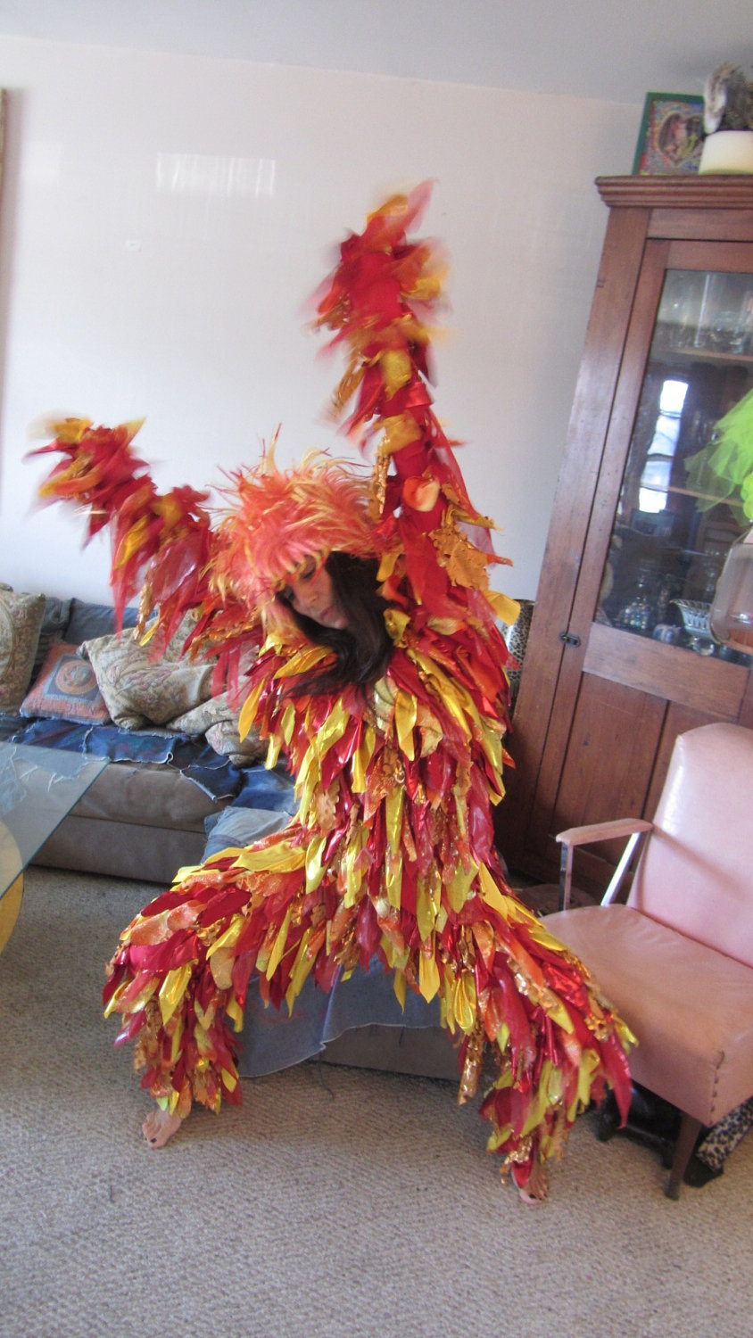 how to make a fire costume