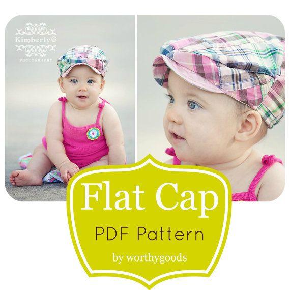381f89a6f Kids Newsboy Hat PDF Pattern - Girls or Boys Flat Cap 6 Months to ...