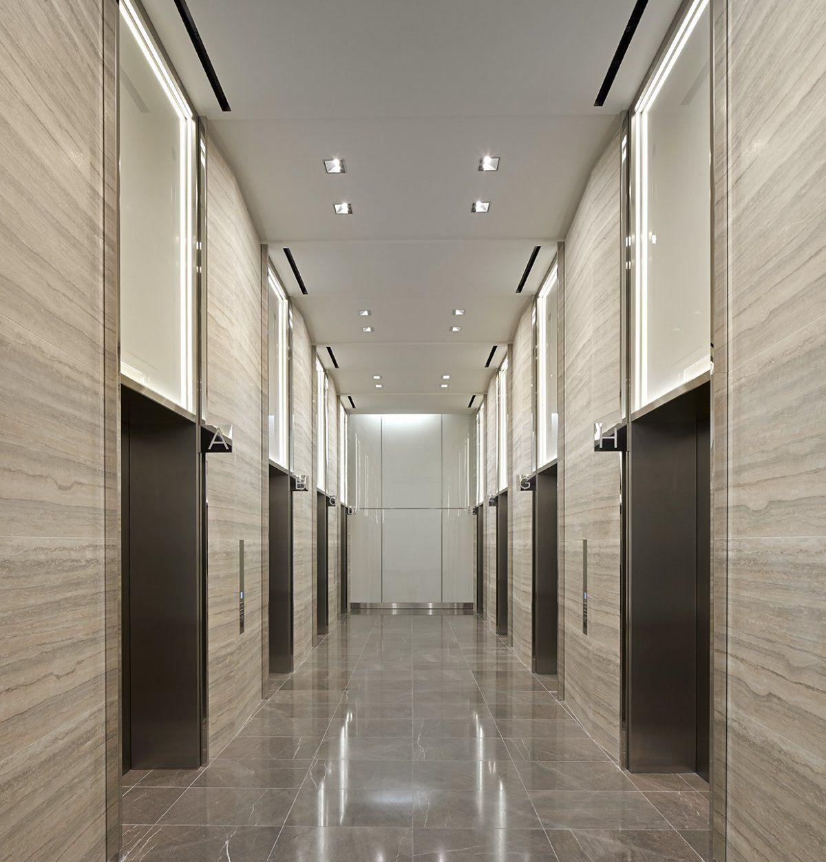 Modern office elevator lobby ceiling lights google for Modern elevator design
