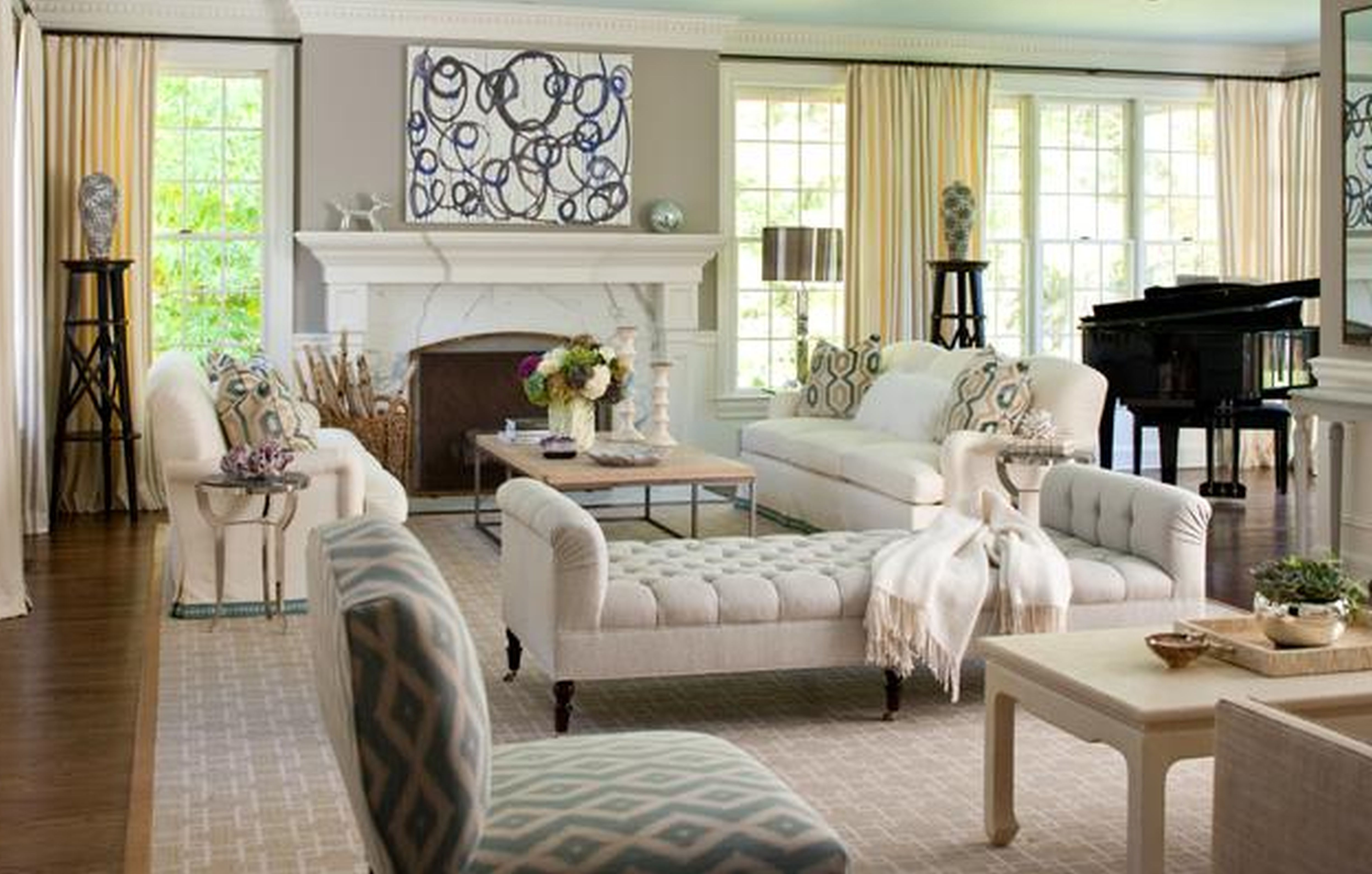 Exquisite White Living Room Furniture Ideas With White Fireplace Added  White Living Couch And Table Decors Amazing Pictures