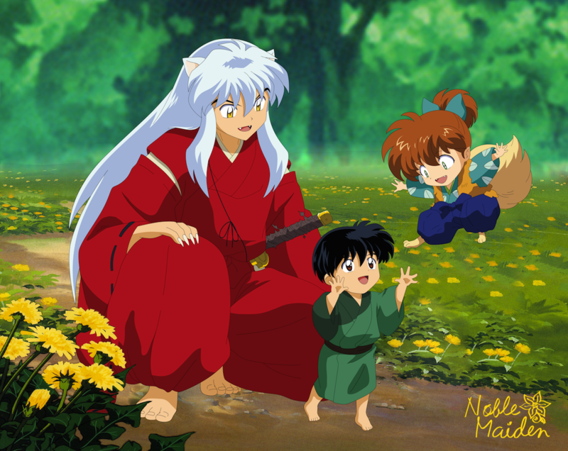 I don't know much about Japanese weddings and less of how it was in lows villagers like Kaede's during the feudal Era, but this is how I always pictured it. I tried to make Kagome's kimono that loo...