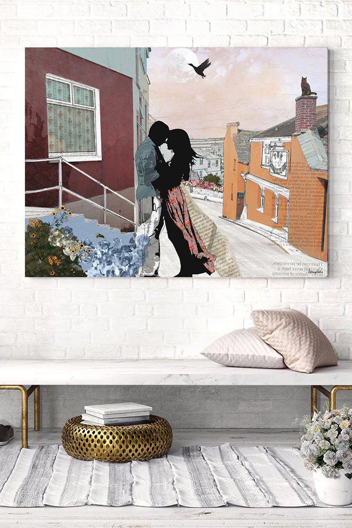 Couple Bedroom Decor, Master Bedroom Wall Art, Canvas Print, Large ...