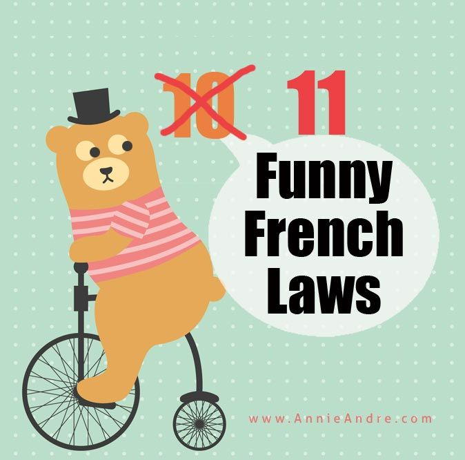 11 weirdly funny French laws in France
