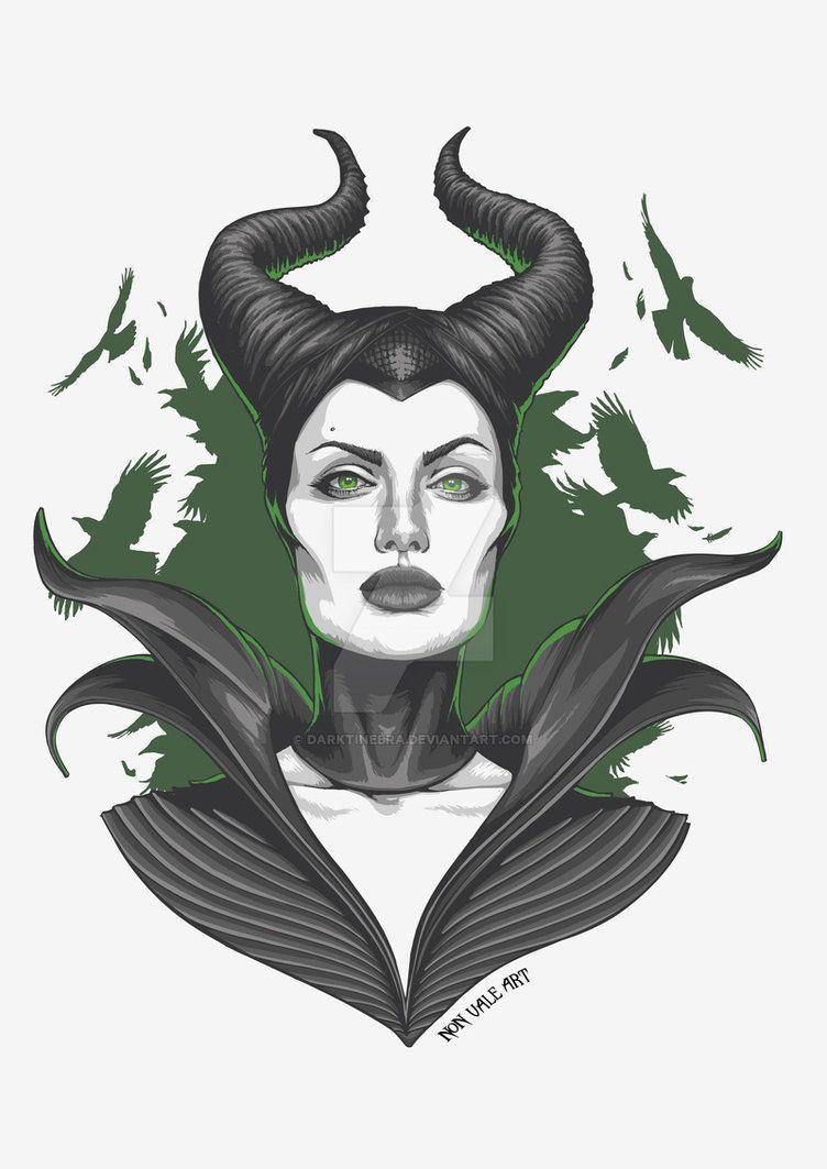 Maleficent Version 1 By Darktinebra Disney In 2019