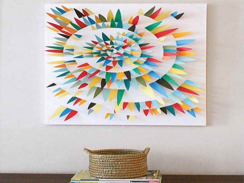 Diy canvas wall art ideas diy colourful paper wall art ideas