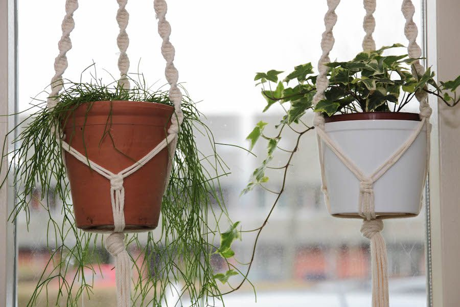 Plantenhanger maken met macrame - Mama Maai