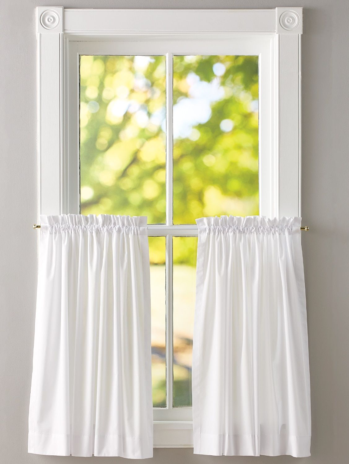 Jane S Plain And Simple Rod Pocket Tiers Curtains Curtain