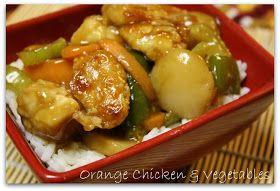 Orange Chicken & Vegetables {Chinese Take - In} #chineseorangechicken