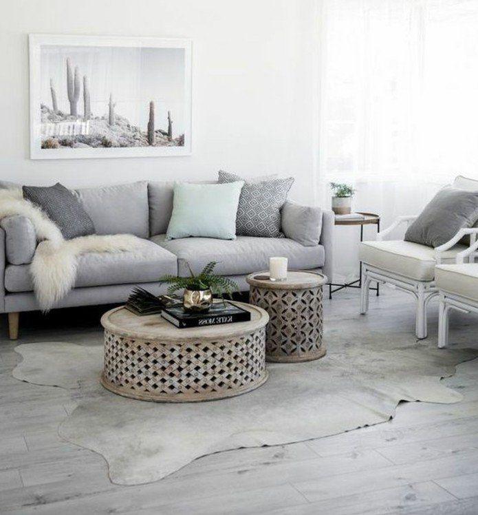 Un Salon En Gris Et Blanc Cest Chic Voilà Photos Qui En - Canape tres design