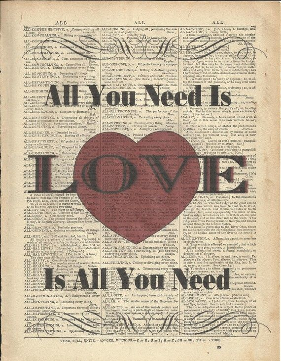Song 3 Vintage Heart Song Lyric Quote Print